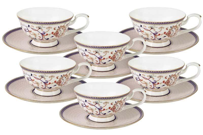 Королева Анна Набор 12 предметов: 6 чашек + 6 блюдец Эмили (Emily) Китай