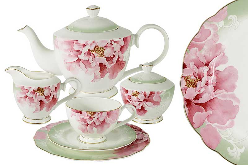 Заря Чайный сервиз 21 предметов на 6 персон Эмили (Emily) Китай