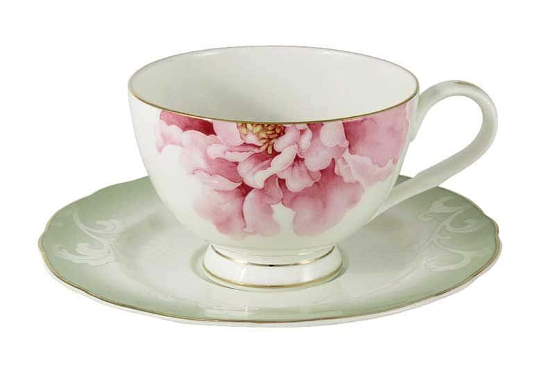 Заря Чайная пара из костяного фарфора Эмили (Emily) из Китая