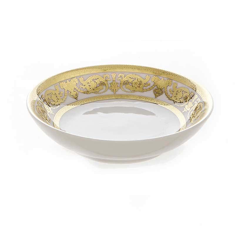 Александрия Голд/белый Набор розеток Bavarian Porcelain 11 см. 6 шт.