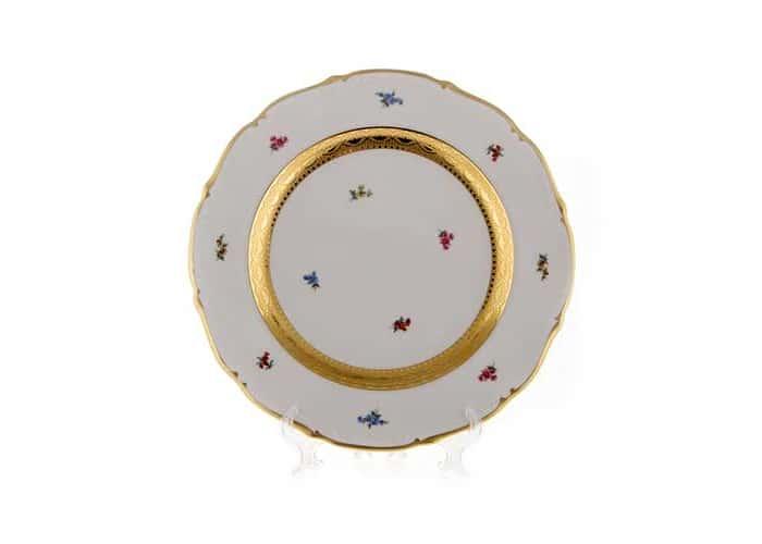 Блюмен Лента Золотая Блюдо круглое Bavarian 32 см.
