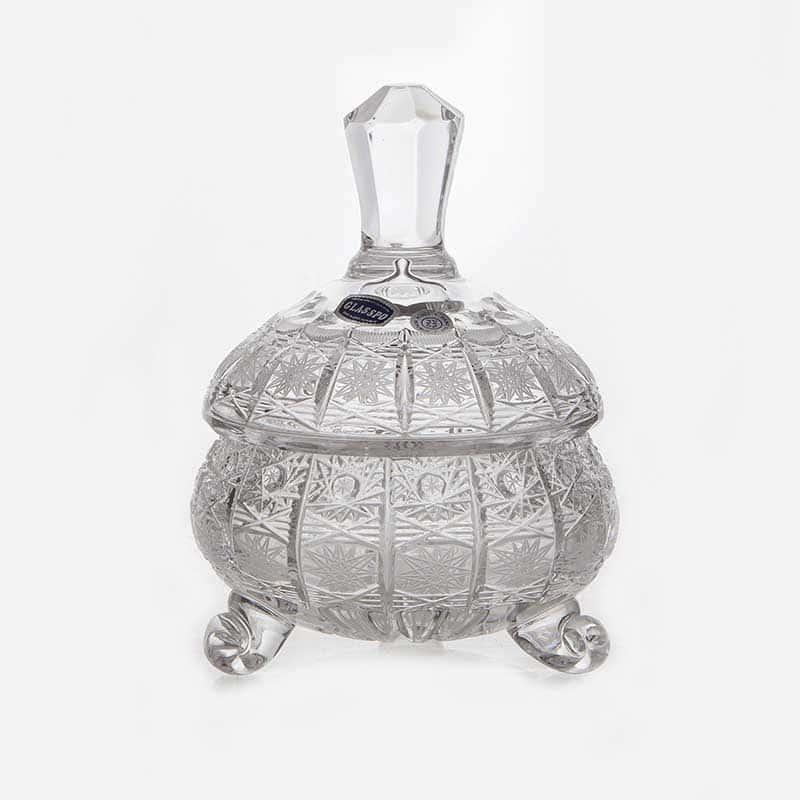 Хрусталь 52022 Доза мармеладница Glasspo 12,6 см.