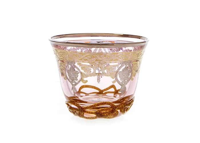 Алессия розовая Набор для кофе Decotech 250 мл. 6 шт из стекла