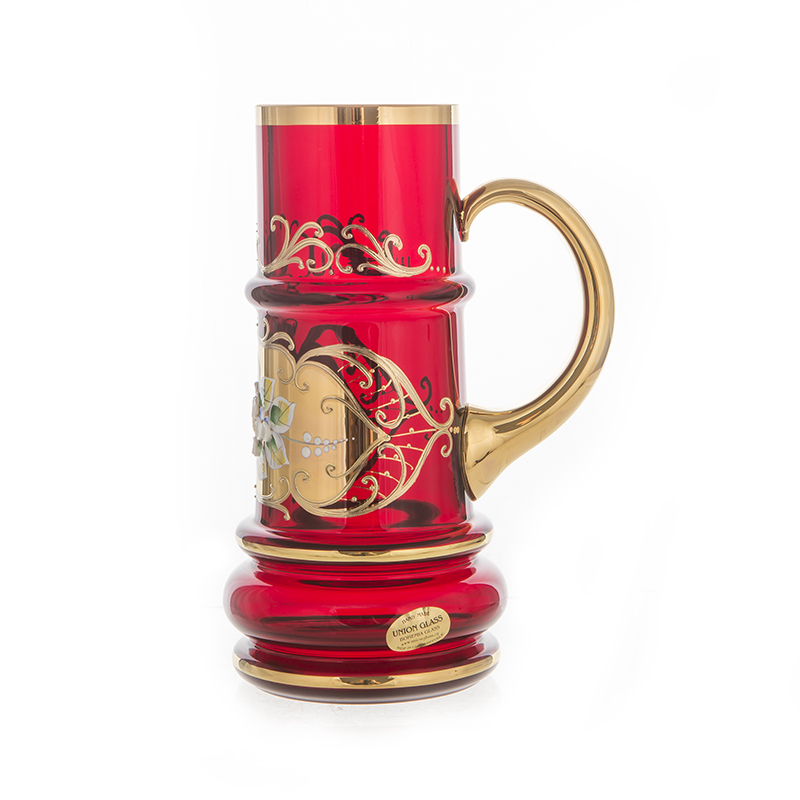 Лепка красная Кружка для пива Union Glass 0,5 л.