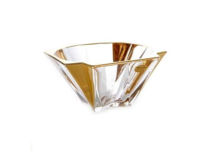 Метрополитан Блестящая 2 Ваза для фруктов Union Glass 21,5 см.