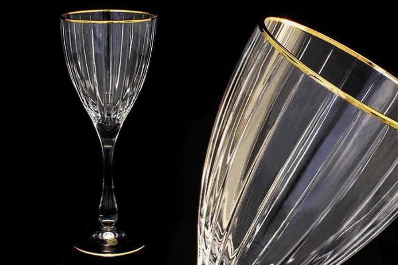 Пиза золото 6 бокалов для вина Same Decorazione Италия в подарочной упаковке