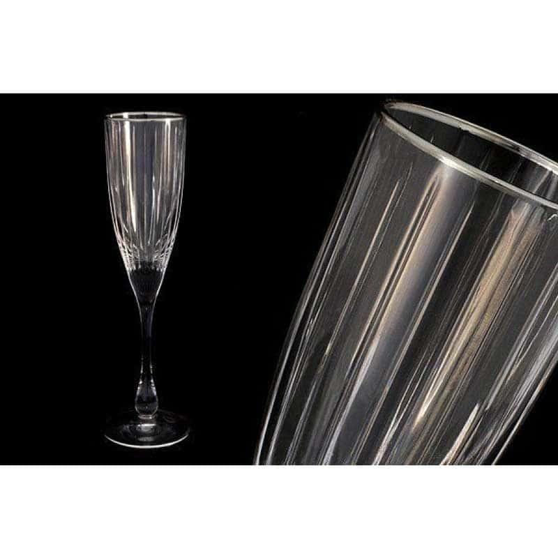Пиза серебро 6 бокалов для шампанского Same Decorazione Италия в подарочной упаковке