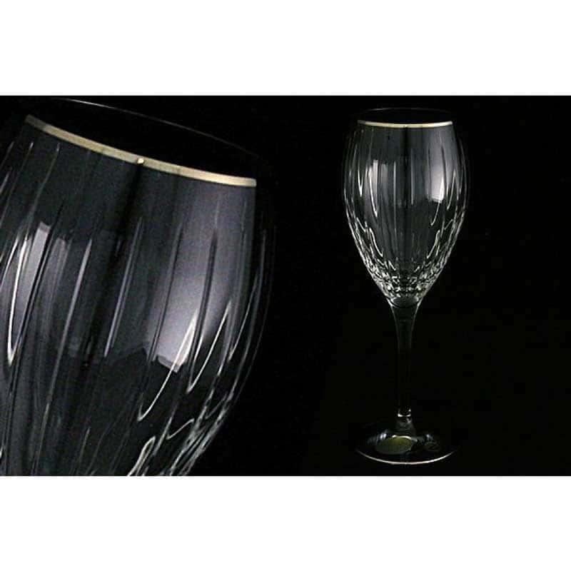 Пиза серебро 6 бокалов для вина Same Decorazione Италия в подарочной упаковке