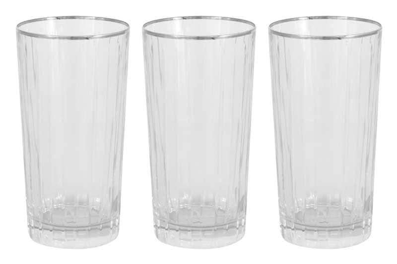 Пиза серебро 6 стаканов для воды Same Decorazione Италия в подарочной упаковке