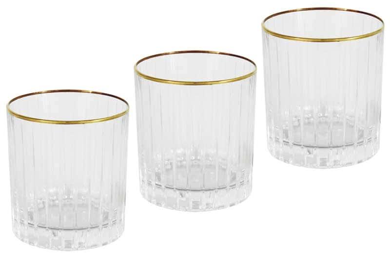 Пиза золото 6 стаканов для виски Same Decorazione Италия в подарочной упаковке