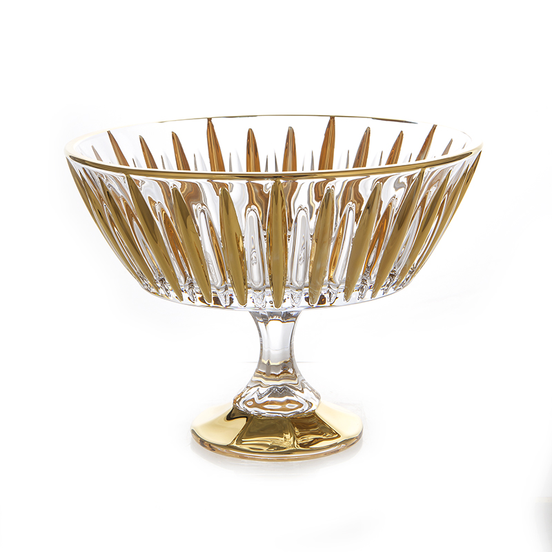 Венус Блестящая 2 Ваза для фруктов Union Glass 22 см на ножке