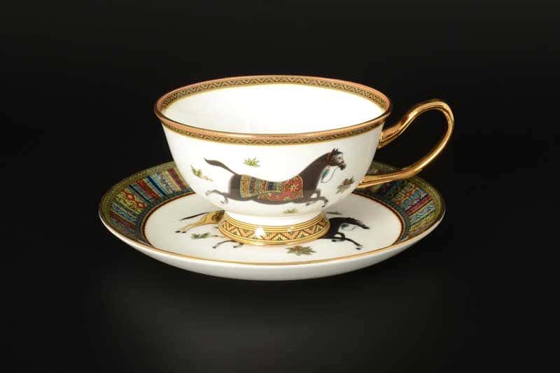 Лошади Набор чайных фарфоровых пар Royal Classics