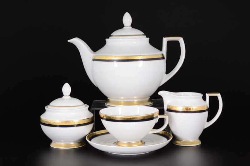 Cobalt Gold 9030 Чайный сервиз FalkenPorzellan на 6 персон 17 предметов