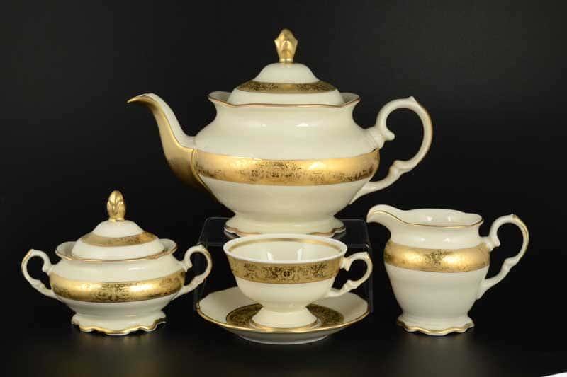 Чайный сервиз Royal Czech Porcelain на 6 персон 17 предметов