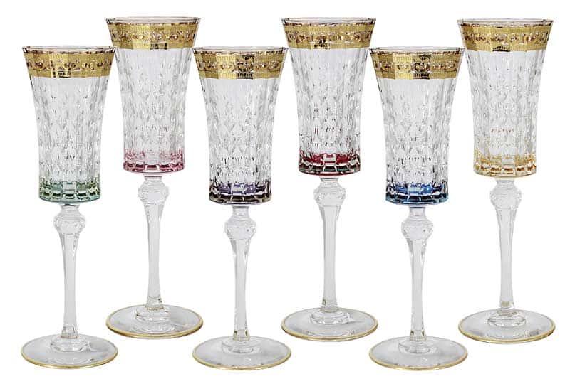 Цветная Флоренция Набор из 6 бокалов для шампанского Same Decorazione Италия
