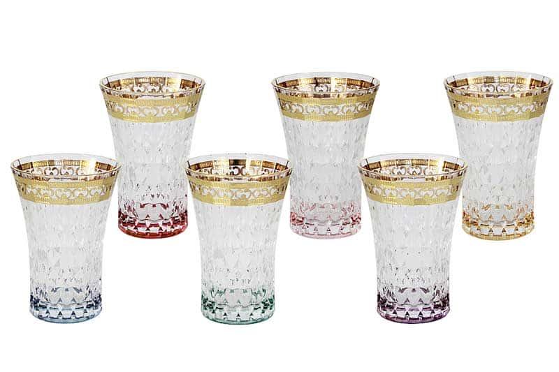 Цветная Флоренция Набор из 6 стаканов для воды Same Decorazione Италия