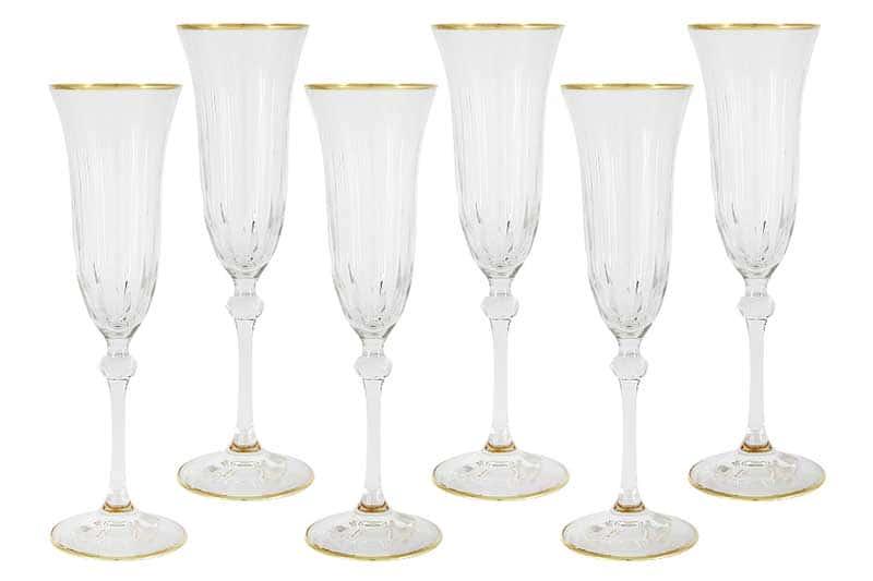 Пиза Нью Набор: 6 бокалов для шампанского Same Decorazione Италия в подарочной упаковке