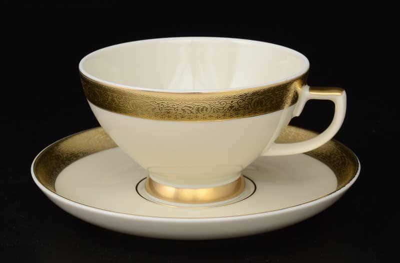 Cream Gold 3064 Набор чайных пар FalkenPorzellan 250 мл (6 пар)