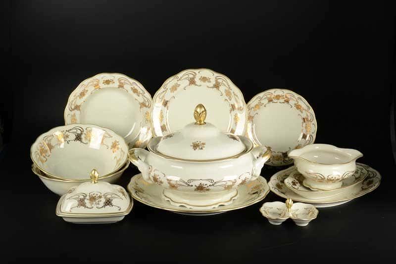 Столовый сервиз Royal Porcelain на 6 персон 28 предметов слоновая кость