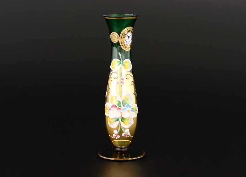 Лепка зеленая E-V Ваза для цветов Bohemia 15 см