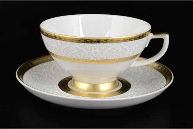 Constanza Diamond White Gold Набор чайных пар Falken 220 мл (6 пар)