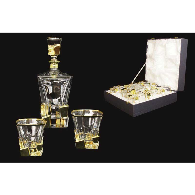 Айсберг золото Набор для виски Same Decorazione из Италии в подарочной упаковке
