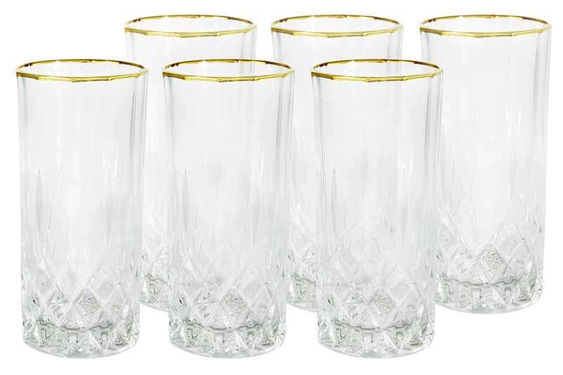 Уэльс Набор из 6 стаканов для воды Same Decorazione Италия в подарочной упаковке