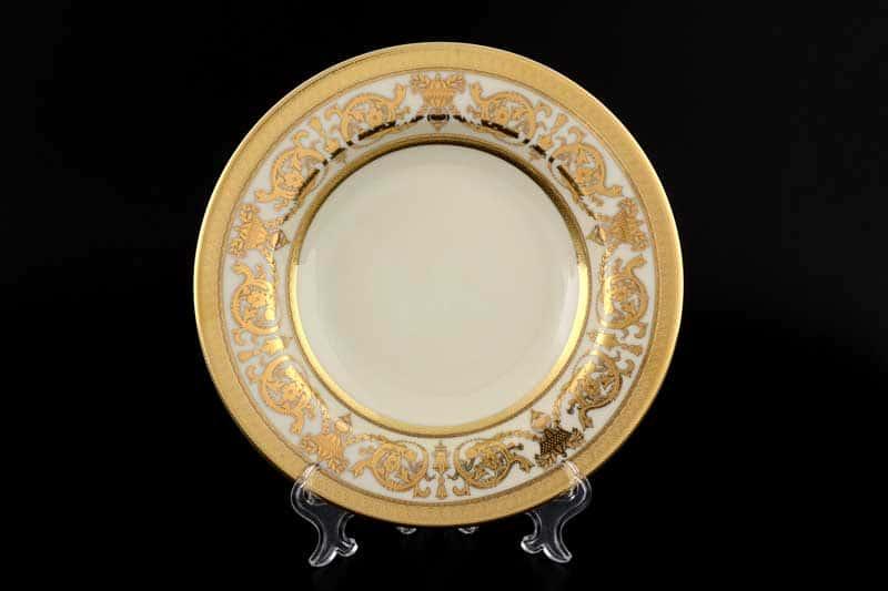 Constanza Cream Imperial Gold Набор тарелок Falken 22 см (6 шт)