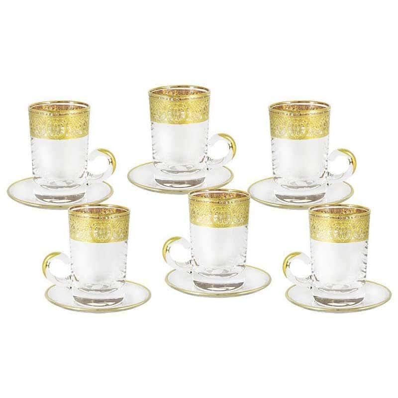 Империя Набор: 6 чашек + 6 блюдец Same Decorazione из Италии 0,17 л.