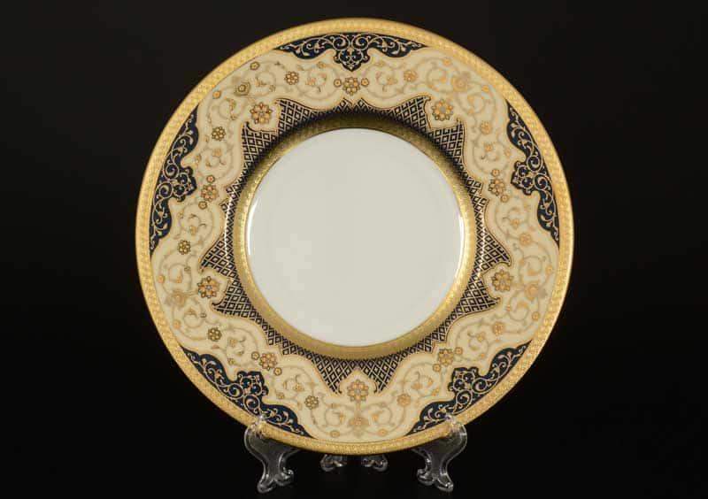 Belvedere Combi BLUE Gold Набор тарелок FalkenPorzellan 22 см