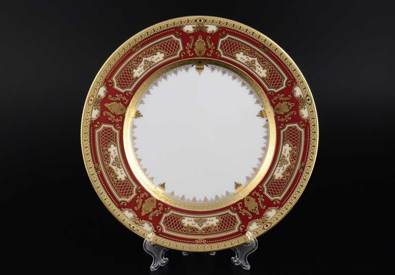 Donna bordeaux gold Набор тарелок FalkenPorzellan 23 см (6 шт)
