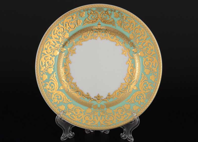 Natalia green gold Набор тарелок FalkenPorzellan 17 см (6 шт)