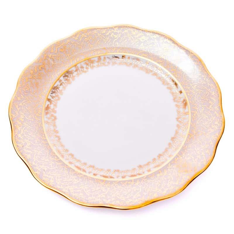 Лист бежевый Набор глубоких тарелок Carlsbad 24 см. 6 шт