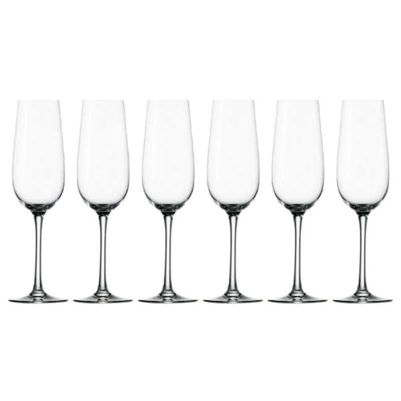 Weinland Набор из 6 бокалов для шампанского Штольцле (Stolzle) из Германии 200 мл.
