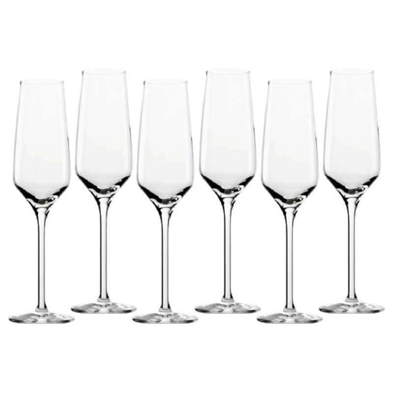 Experience Набор: 6 бокалов для шампанского Штольцле (Stolzle) из Германии 188 мл.