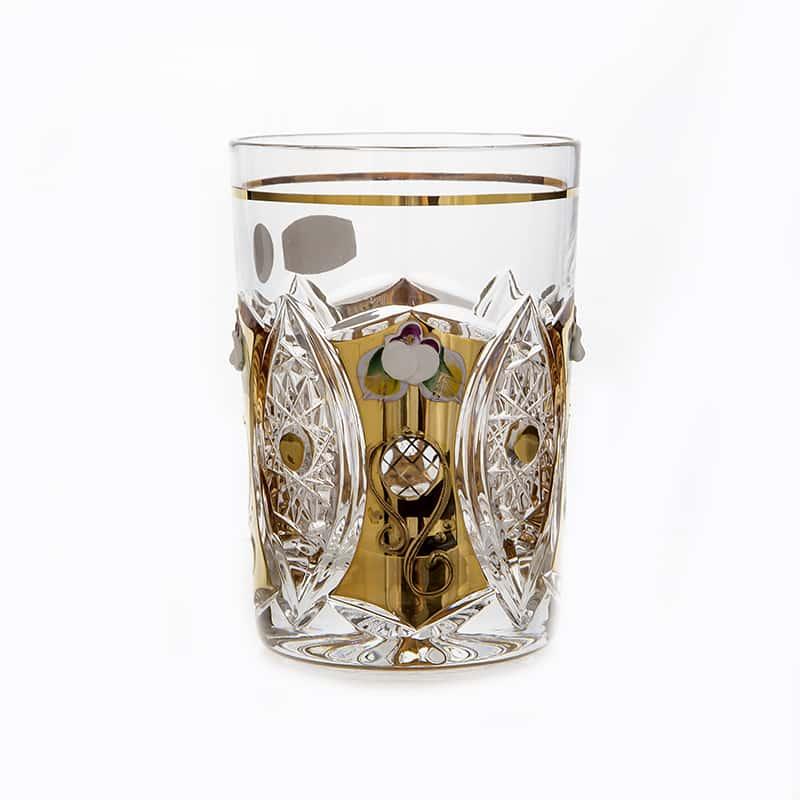 Хрусталь с золотом Набор стаканов для воды Glasspo 280 мл. 6 шт.