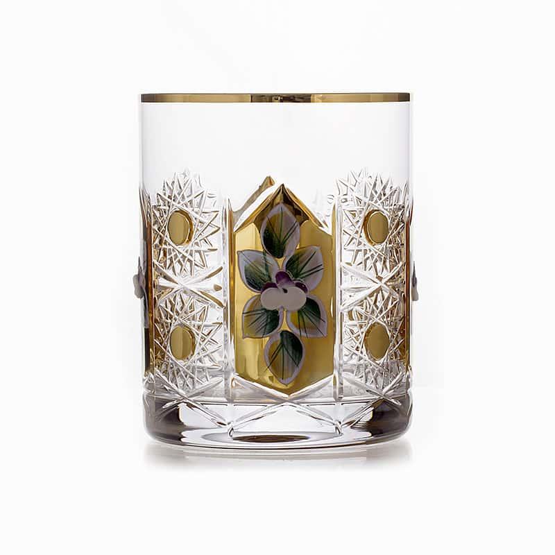 Хрусталь с золотом Набор стаканов для виски Glasspo 330 мл. 6 шт.