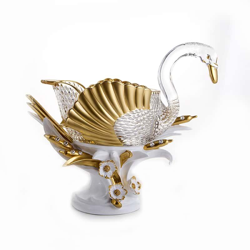 Чевик-Лебедь Ваза для фруктов из стекла и керамики