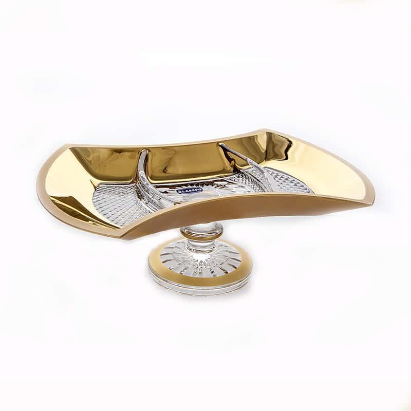 Фелиция 69150 Менажница Glasspo 33 см. на ножке