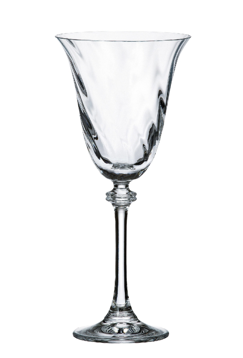 Александра Оптик Набор бокалов для вина Crystalite 250 мл. 6 шт.