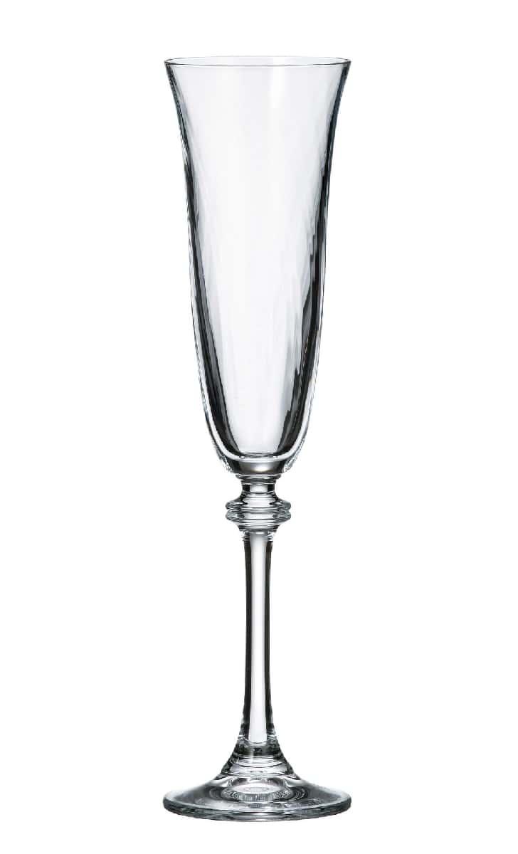 Александра Оптик Набор фужеров для шампанского Crystalite 190 мл. 6 шт.