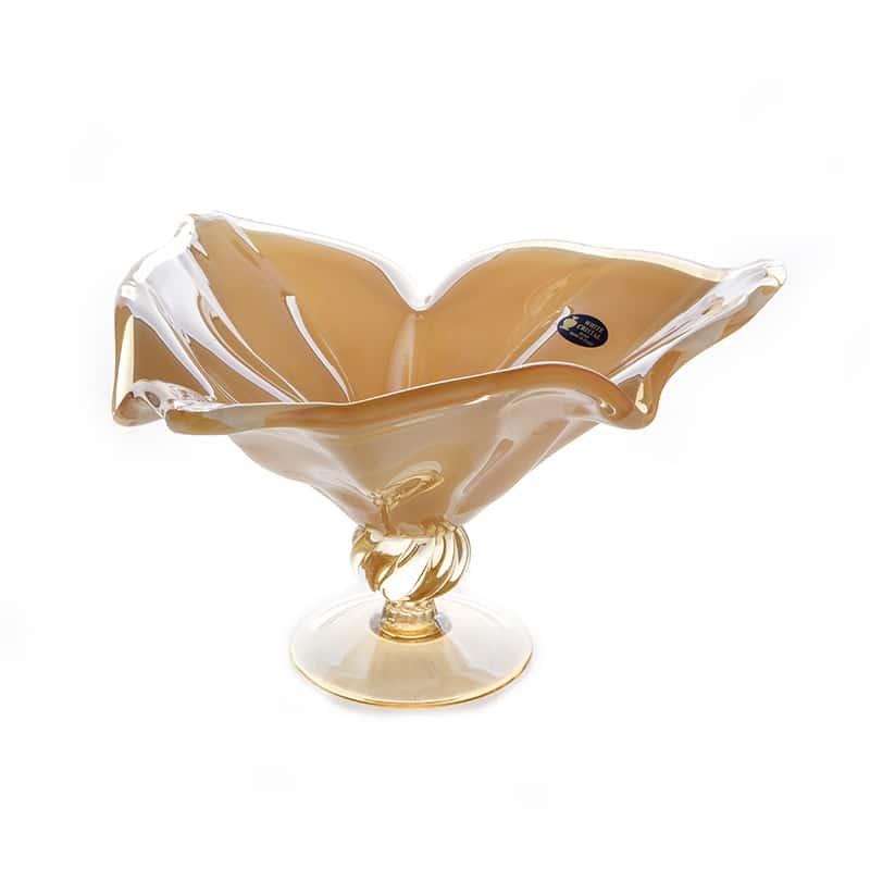 Вайт Кристал Ваза для фруктов White Crystal 40 см