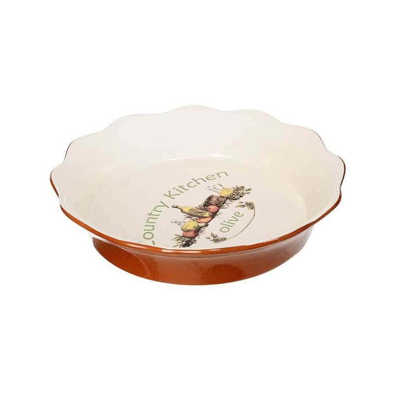 Олива Блюдо для выпечки Terracotta из Китая в подарочной упаковке