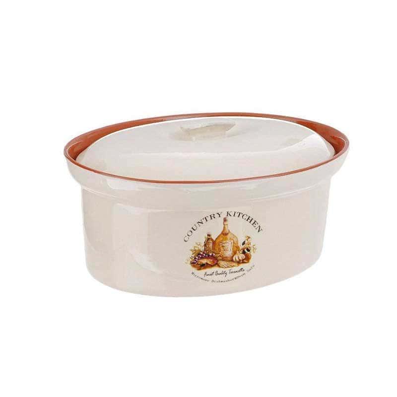 Сардиния Кастрюля с крышкой Terracotta из Китая в подарочной упаковке
