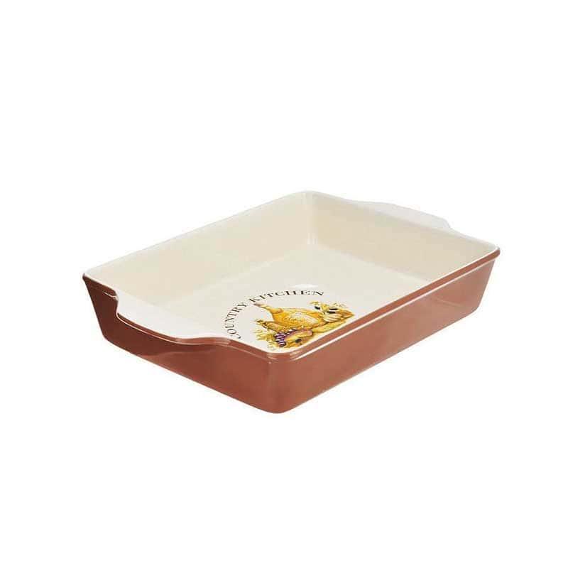 Сардиния Квадратное блюдо для выпечки Terracotta Китай в подарочной упаковке