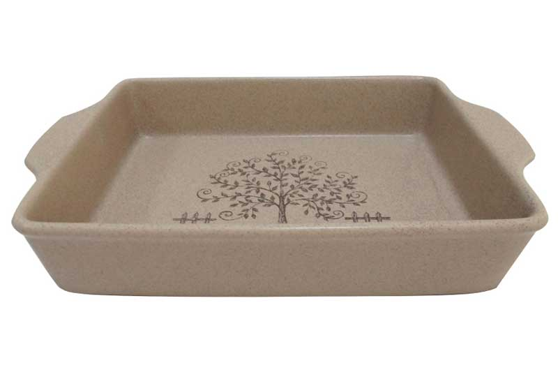 Дерево жизни Прямоугольное блюдо для выпечки Terracotta из Китая