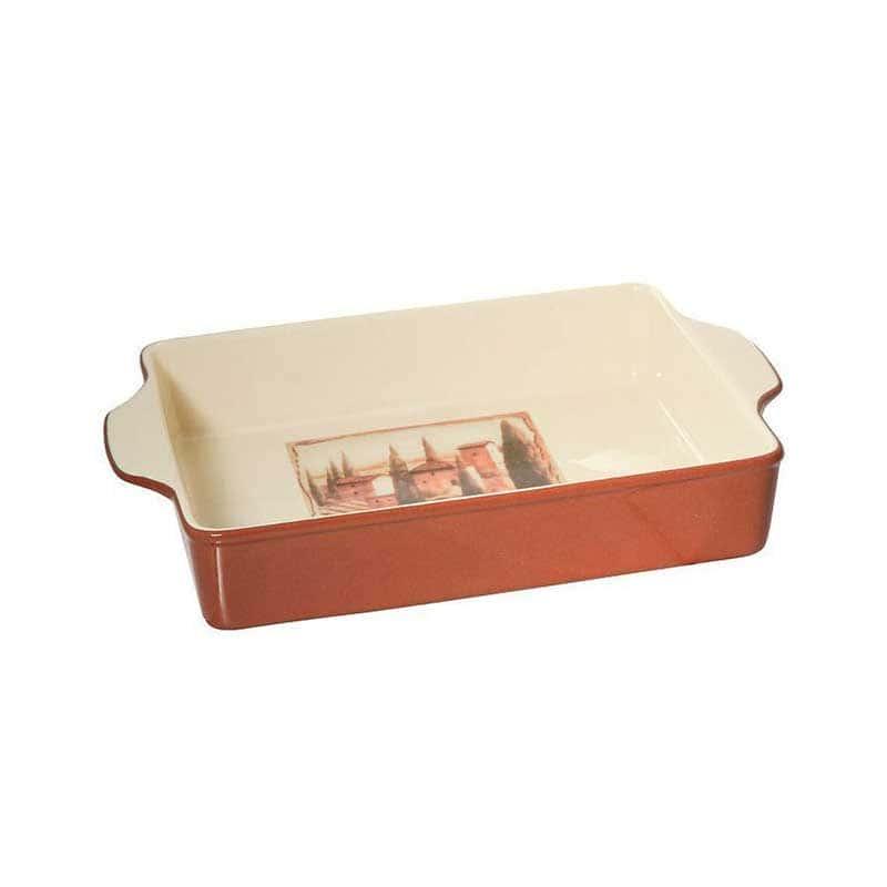 Итальянская деревня Блюдо для выпечки прямоугольное Terracotta Китай в подарочной упаковке