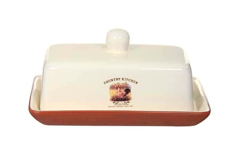Деревенское утро Масленка из керамики Terracotta Китай в подарочной упаковке