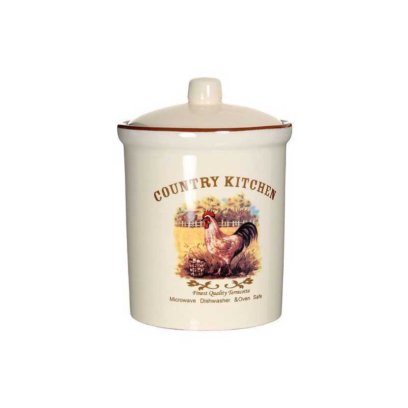 Деревенское утро Большая банка для сыпучих продуктов Terracotta Китай в подарочной упаковке