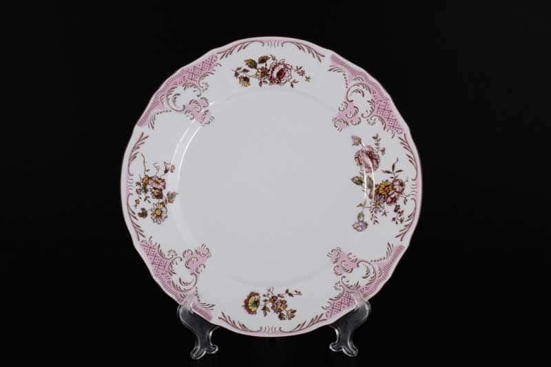 Бернадотт Розовый цветок 25058 Блюдо круглое 30 см